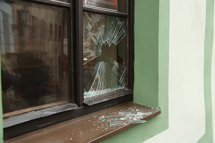 A2B Glass are able to board up broken windows while they are being repaired in Peterhead.